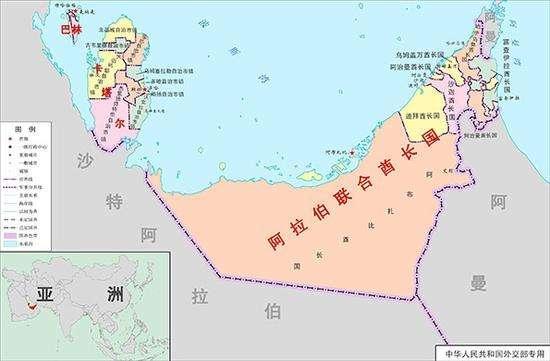 图为卡塔尔和沙特地理位置.(网络资料图)-沙特放大招了 考虑沿边...图片 30480 550x361