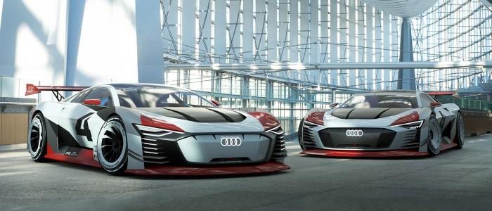 又一款《GT赛车》概念车成真:奥迪e-tron Vision GT