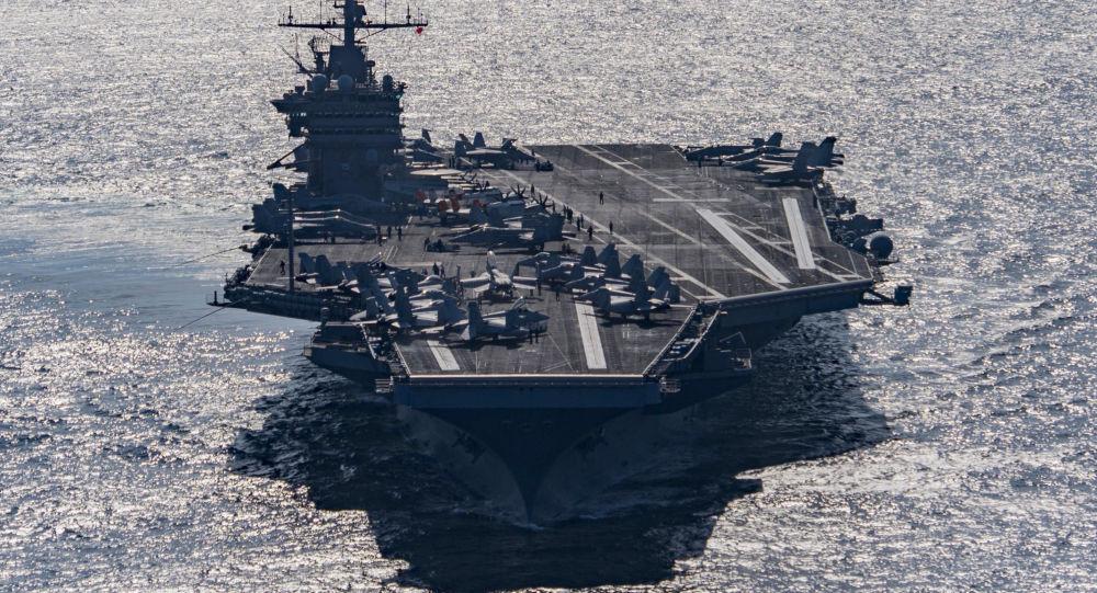 敏感时刻美军杜鲁门号航母战斗群前往地中海部署