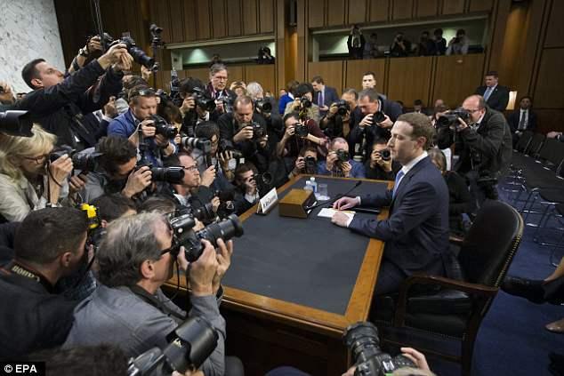 扎克伯格现身国会 就数据泄露事件接受质询