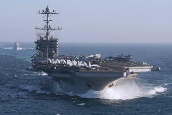 美国航母战斗群关键时刻开赴叙利亚