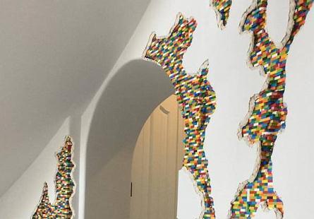 乐高新玩法 艺术家用数万块乐高改造网红豪宅