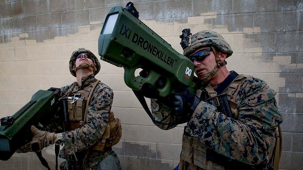 """无人机运用越来越大  美海军陆战队展示新型""""科幻""""装备"""