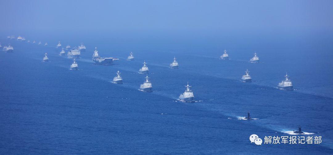 盘点五次海上阅兵舰艇更替 中国海军获跨越式发展