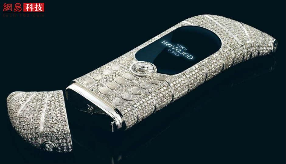 2006年,瑞士珠宝公司GoldVish推出的Le Million手机在戛纳首次亮相。它由18K珀金制成,配以120克拉的钻石,这款外观独特的手机仅生产3部。价格为130万美元。