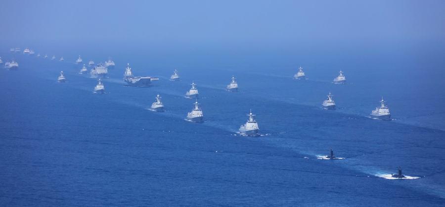 解放军台海军演警告台美:国家统一底线不容挑战!