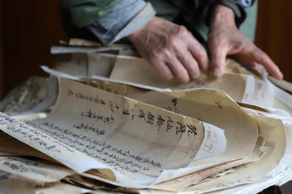 """贵州""""锦屏文书""""展示500余年的木商文化遗产"""