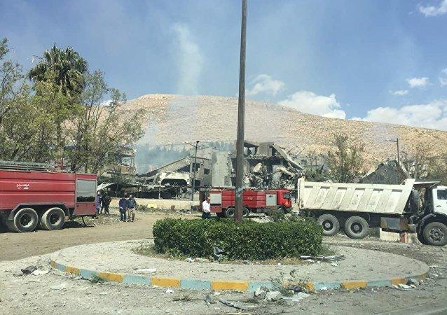 被袭击现场图曝光,叙利亚研究中心已成废墟
