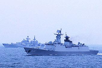 海军实弹演习现代级驱逐舰出动