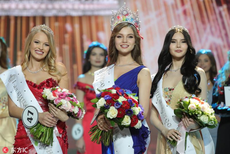 当地时间2018年4月14日,俄罗斯莫斯科,2018俄罗斯小姐( 2018 Miss Russia National Beauty )选美总决赛举行。