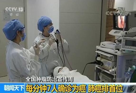 中国平均每分钟7人确诊患癌症 其中肺癌排首位