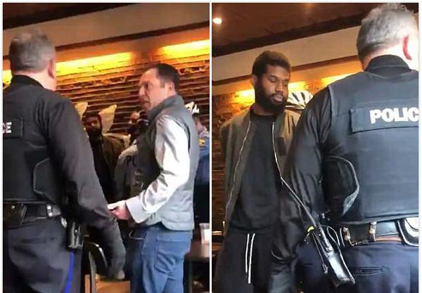 美两男子星巴克等人不点单被捕 警察局长称没毛病