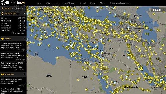 叙利亚战事波及世界民航:中美航线要绕远路
