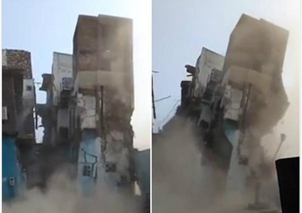 印度一城市老鼠猖獗 破坏楼房地基致其倒塌