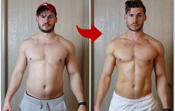 美男子3个月减肥38斤 拍视频记录身材变化过程