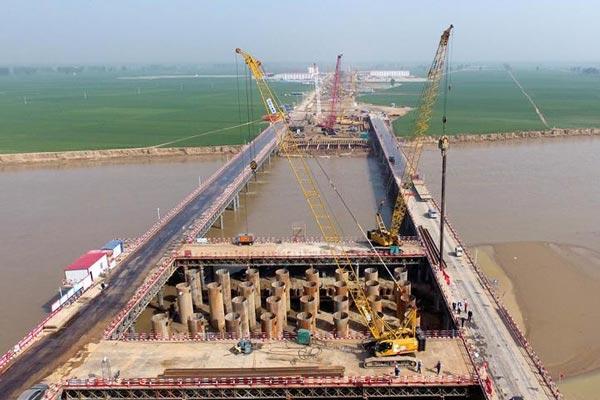 郑济高铁郑州黄河特大桥建设全面展开