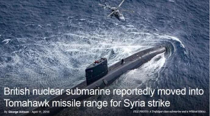 英国核潜艇被曝曾遭俄军围追 错过对叙发动空袭