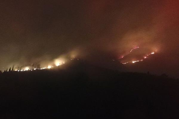 泰安济南两地交界处发生火灾 救灾工作紧张进行