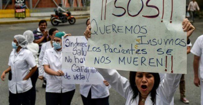 委内瑞拉爆发医患游行 抗议药品短缺及医生待遇过低