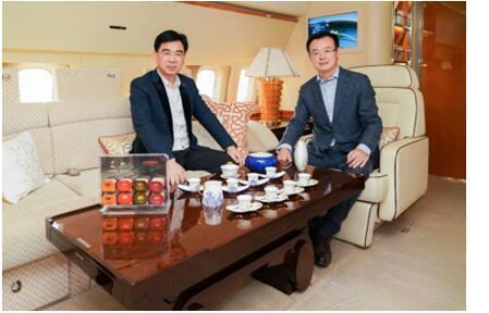 乘顶级公务机 尊享国茶礼遇 华龙航空与华祥苑达成战略合作服务标准再登高峰-焦点中国网