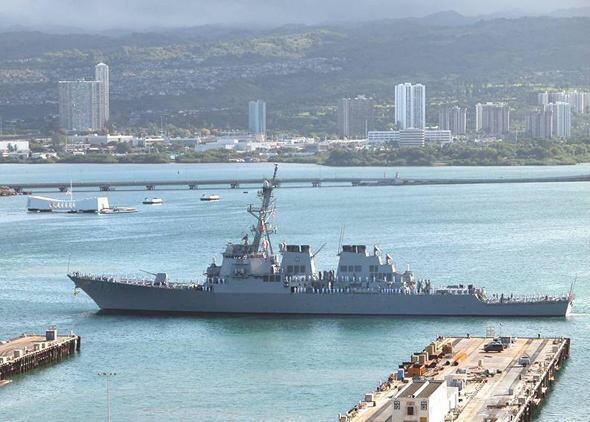 美海军横须贺基地5月将追加部署宙斯盾舰