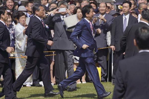 日首相安倍举办赏樱大会