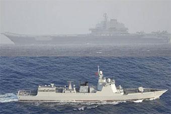 """日3驱逐舰紧盯我航母编队 其中1艘是""""冤家"""""""