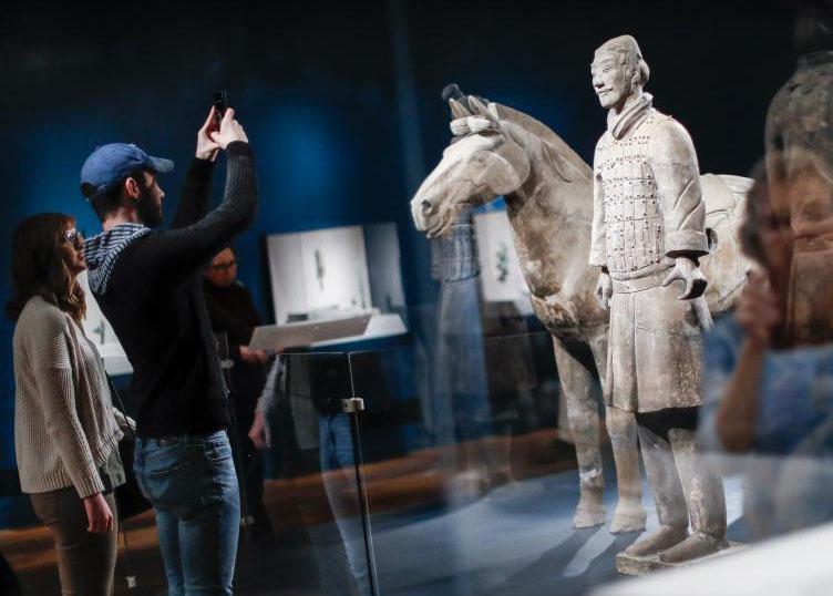 秦始皇兵马俑展在美国辛辛那提博物馆举行