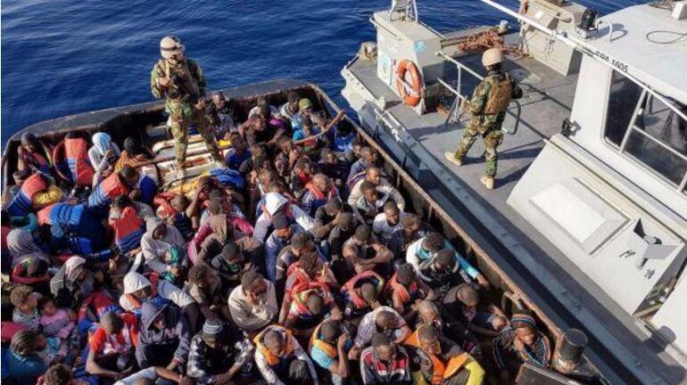 利比亚海军:偷渡者遇船难11人丧生 263人获救