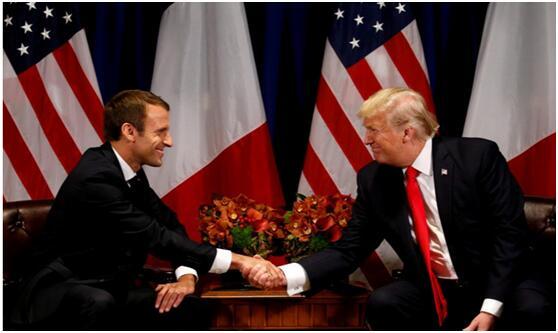 """展示""""软外交""""? 英媒:马克龙向美赠送橡树苗取悦特朗普"""