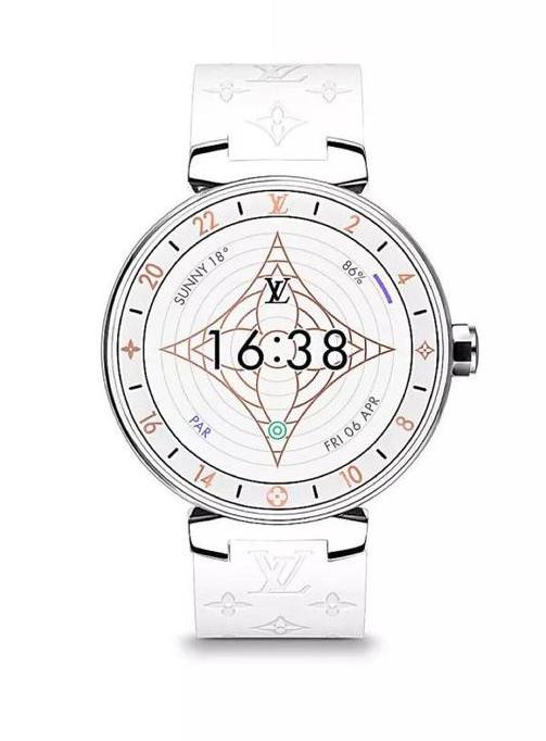 Louis Vuitton路易威登 Tambour Horizon Monogram系列智能腕表