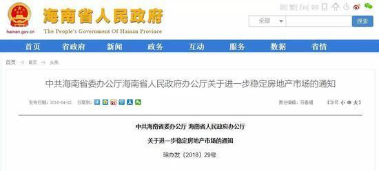 """海南全域限购 数千亿炒房资金被""""关门打狗"""""""