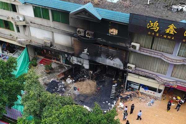 广东一KTV遭纵火致18死5伤 画面曝光