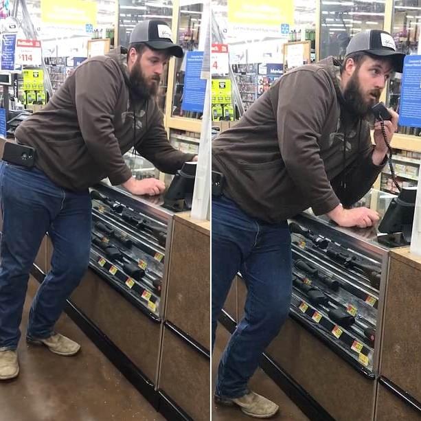 美男子超市购物无人服务 打内部电话瞬间获助