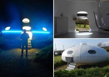 英一公司推飞碟形度假屋 入住后可感受外星生活