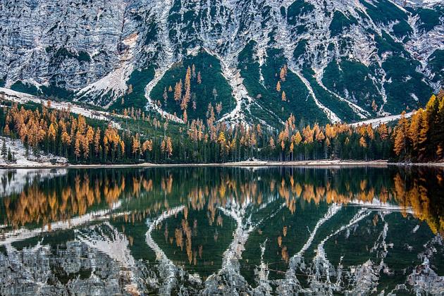 湖光见山影!意大利湖面完美复刻岸上美景