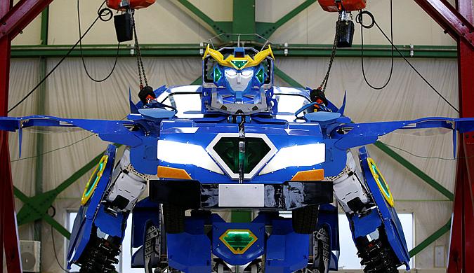 现实版变形金刚!日本新款变形机器人亮相