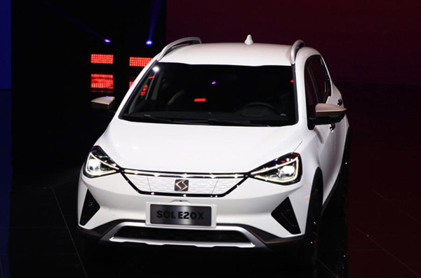 江淮大众推出电动车品牌SOL 首款车E20X北京亮相