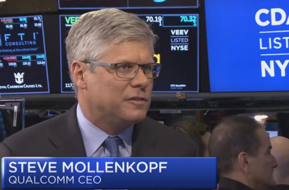 高通公司CEO:年底之前与苹果解决专利授权纠纷