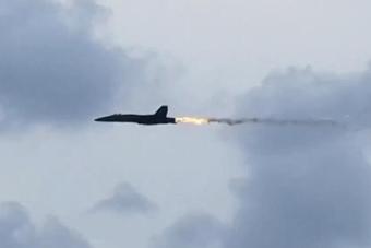 军迷拍到战斗机撞鸟瞬间 发动机吸入大鸟后冒火