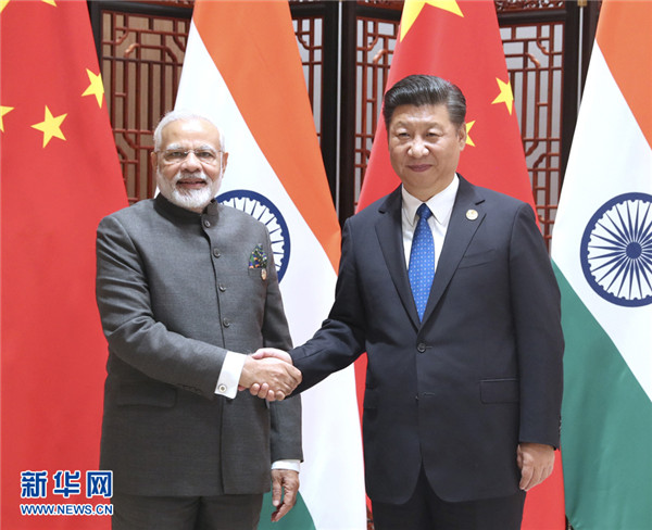 外媒:中印领导人非正式会晤 引领两国关系达到新高度