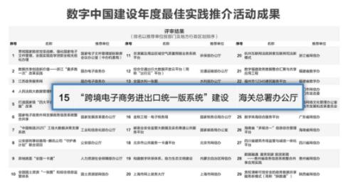 """海关总署荣获网信办、发改委""""数字中国""""30佳 普元微服务架构鼎力支持"""