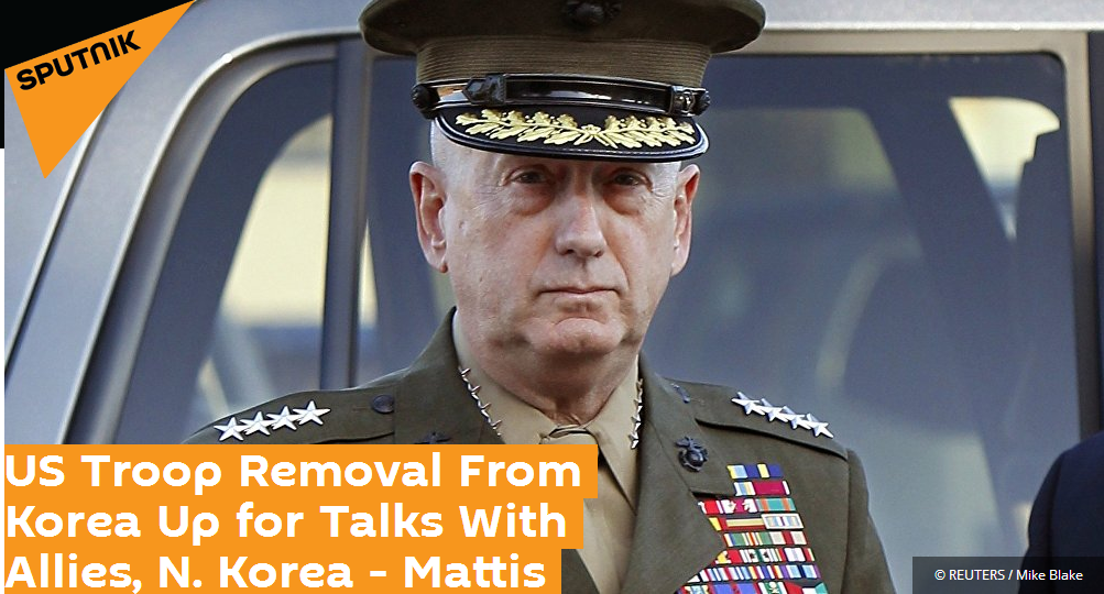 美防长:如果朝韩和平协议有需要 美将探讨从朝鲜半岛撤军