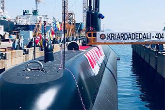 韩国为印尼制造第二艘潜艇交付 编号404