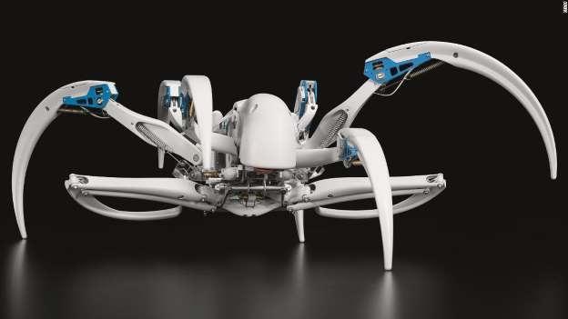 德公司推仿蜘蛛机器人:能爬行 还能变成圆筒滚动