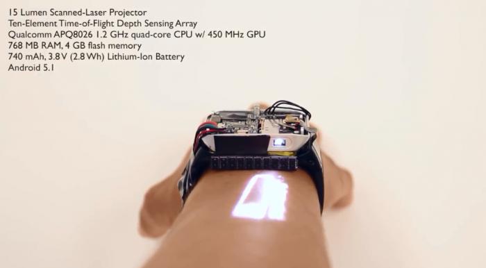 LumiWatch:让你的手臂秒变触摸屏