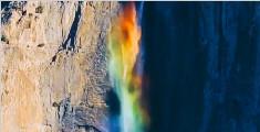 美轮美奂的彩虹瀑布