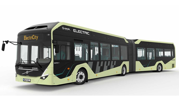 沃尔沃研发铰接式纯电动公共汽车 瑞典路试