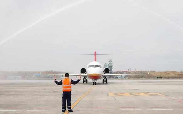 国产喷气客机ARJ21运营高寒地区新航线[组图]