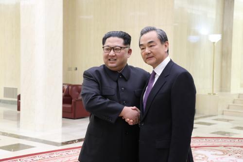 朝鲜最高领导人金正恩会见王毅